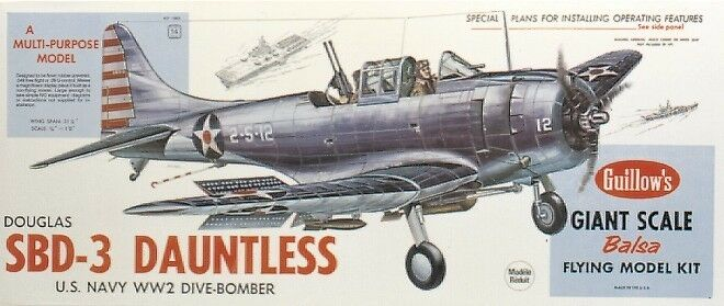 GUILLOWS GUILL1003 DAUNTLESS 3 4 SCALE KIT