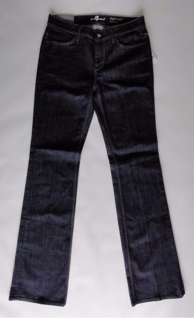 SEVEN FOR ALL MANKIND HIGH WAIST BOOTCUT JEANS, Dark bluee, Size 30, MSRP