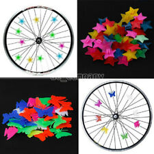 36X Colorful Plastic Cycle Bike Wheel Spoke Beads Clip Kids Bicycle Decoration