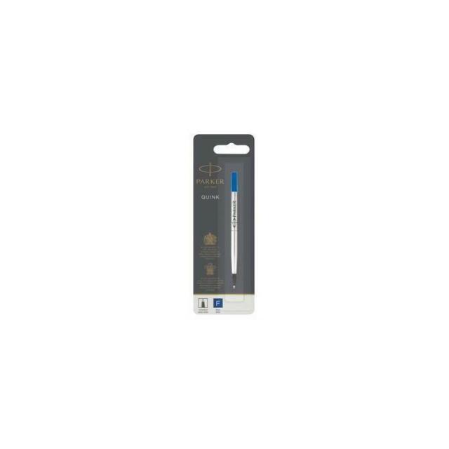 [Ref:1950322] PARKER Recharge pour roller pointe fine encre bleue. En blister.