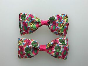 NY Yankees Hair Bows with Alligator Clips