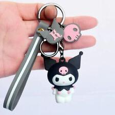 Cute 3D Kuromi Keychain Key Chain Charm Car Bag Doll Pendant Keyring Gift