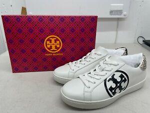 Tory Burch Leigh T-Logo Sneaker - White / Warm Roccia - US Size 8