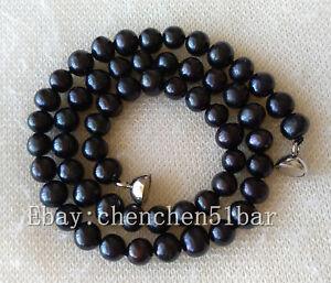 charm-kultivierte-6-7mm-schwarz-Suesswasser-Perlenkette-17-Zoll-Magnetverschluss