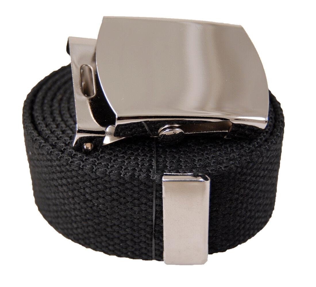 AccMall Men/'s Canvas Military Bandana Pattern Web Belt /& Buckle 60 Inches Black