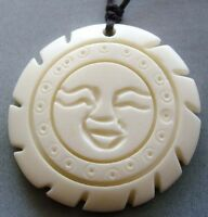 Tibet Bone Happy Face Sun Pendant Jewelry