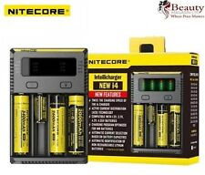 NITECORE i4 Intellicharger Universal Battery Quad Charger 18350 16340 26650 1865