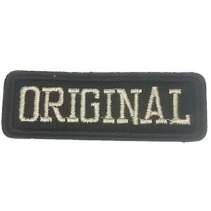 ORIGINAL-Iron-On-Patch-Original-Text-Biker-Sew-on-Embroidered-transfer-New