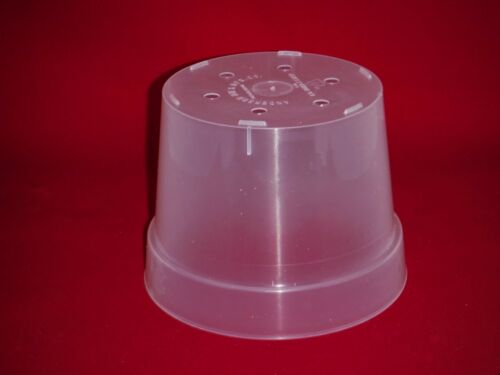 2 6.5CLUV premium 6.5 inch clear plastic orchid pot extra large