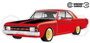 Chrysler-Valiant-VG-Pacer-Hemi-2Door-Red-with-Gold-Rims