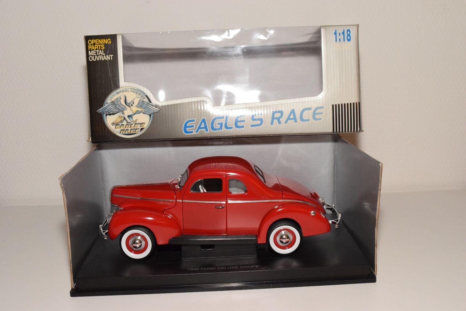 risparmia fino al 50%     EAGLE'S RACE UNIVERSAL HOBBIES 1940 FORD FORD FORD DELUXE COUPE rosso MINT scatolaED  vendite dirette della fabbrica