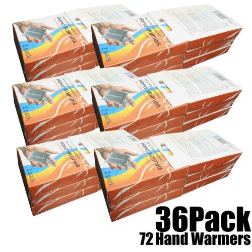 Multi Buy 36 x Twin Pack Mini Hot Heat Hand Pocket Walking Fishing Warmer Pads