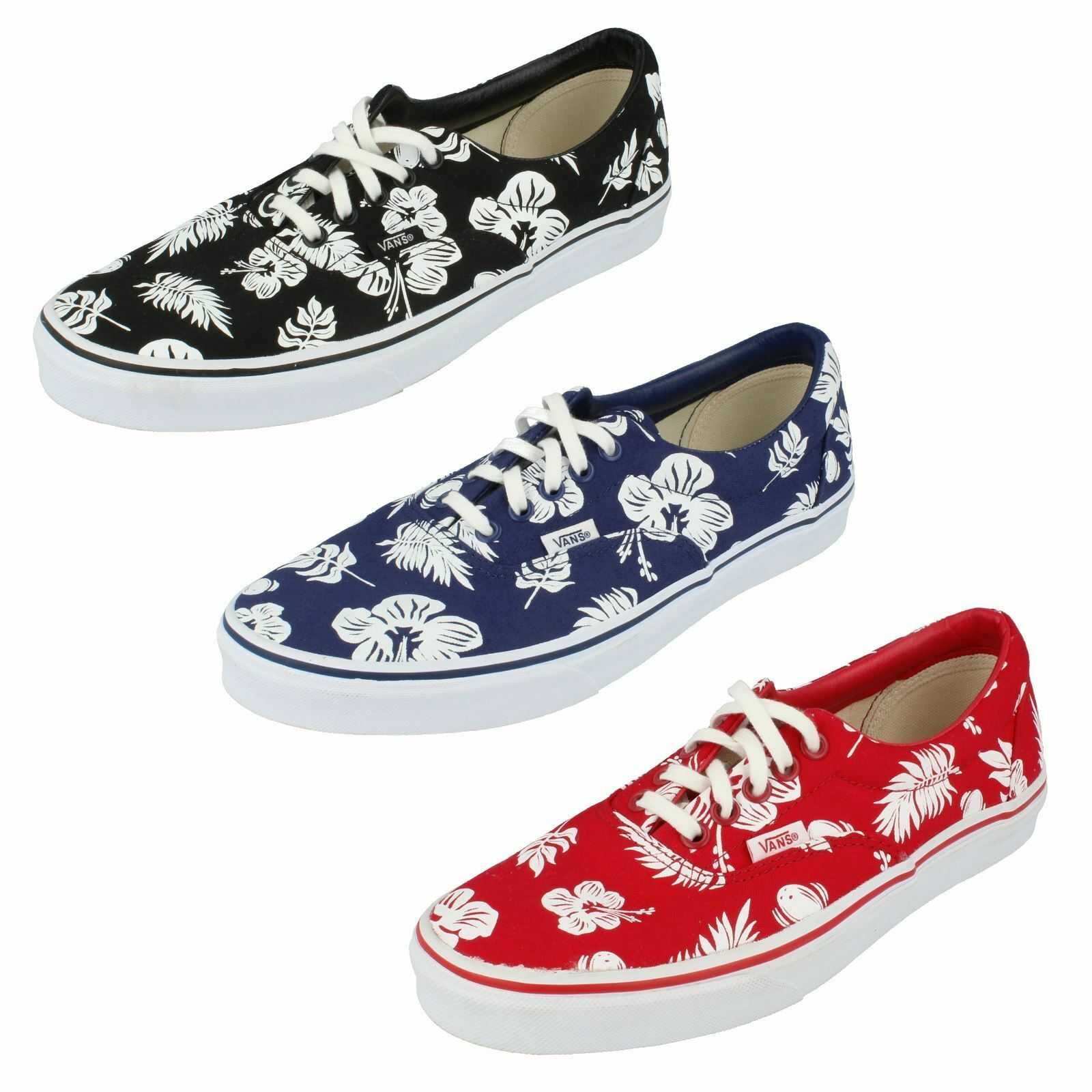 615b08041f VANS Mens Casual Tropicoco White True Red Canvas Shoes W3cen9 UK 6 EU 39  for sale online