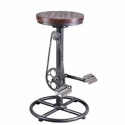 Excellent Vintage Bar Stool Swivel Industrial Pinewood Metal Bike Stool Adjustable Height 745560378762 Ebay Gamerscity Chair Design For Home Gamerscityorg