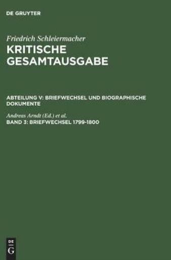 Briefwechsel 1799-1800: (Briefe 553-849)