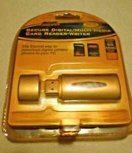 cr-35-r Hi Speed SD Secure digital Card Reader Writer - sun yellowed pack - new