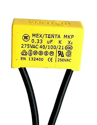 MEX//TENTA 40//100//21 MKP X2 Safety Suppression Capacitors 0.33uF 275VAC 250VAC