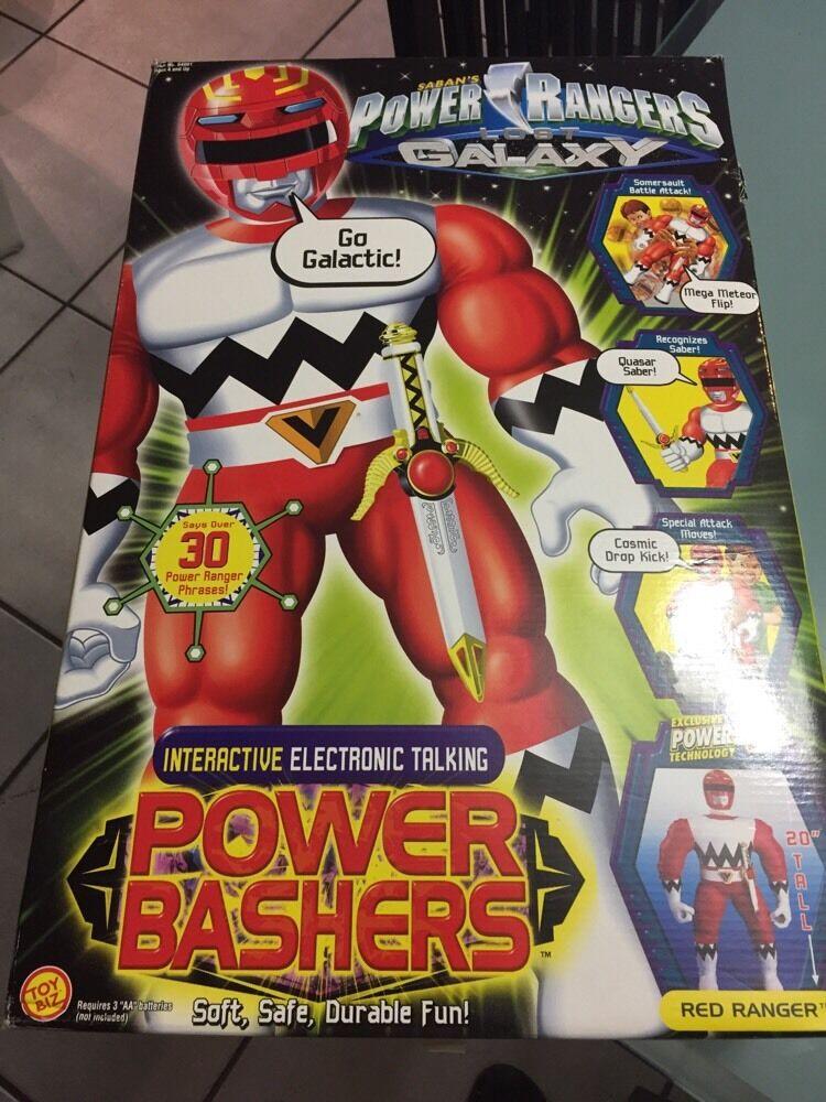 Power Rangers Lost Galaxy POWER BASHERS rosso RANGER 20  Bandai 1999 w/box PLUSH