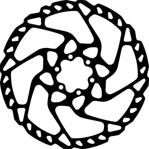 Bike Brake Rotor Decal for mountain bikes freeride downhill enduro mtb
