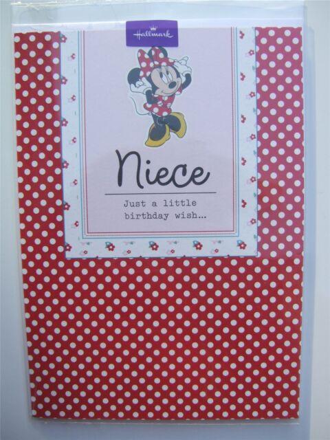 Disney Minnie mouse birthday card for a NIECE by Hallmark - 11225256