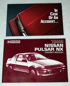1988 nissan pulsar nx original factory dealer owner s owners manual rh ebay com 1986 Nissan Pulsar NX Turbo Nissan Pulsar NX Interior