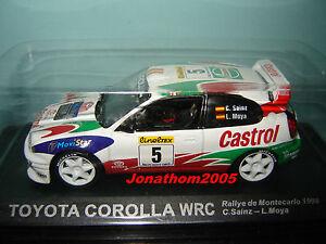 RALLY IXO DIECAST 1//43 Toyota Corolla WRC Sainz//Moya 1998 eRAL040
