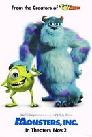 Monsters Inc. Movie Poster 1 Sided Original 27x40 Billy Crystal