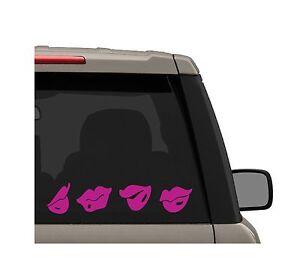 4-pk-Assorted-Lips-Decal-Sticker-Sexy-Kiss-Print-Truck-amp-Car-Bumper-Window