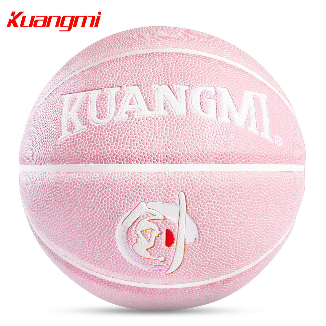 Kuangmi pink basketball Official Size 6 28.5 Training Indoor Outdoor PU Leather