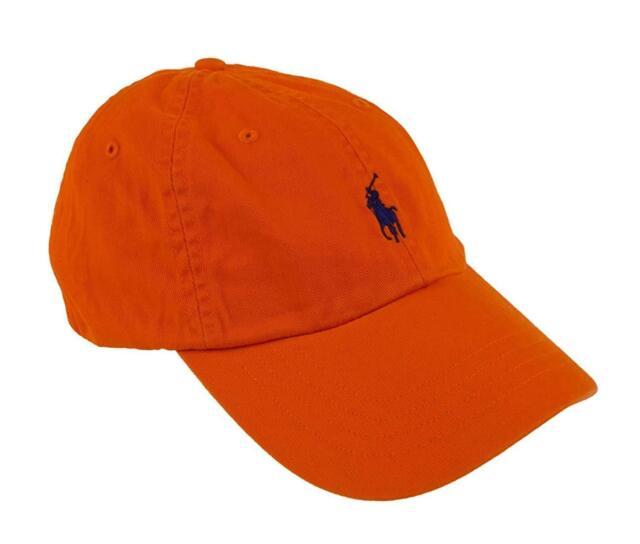 fadae1ae Polo Ralph Lauren Classic Sport Chino Baseball Hat Cap Neon Orange ...