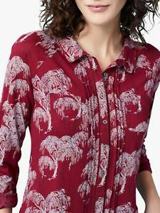 NEW-EX-WHITE-STUFF-UK-6-8-10-RED-HEDGEROW-JERSEY-BLOUSE-TOP