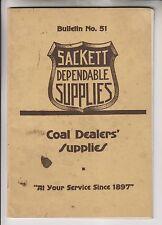 1917 CATALOG - H.B SACKETT SCREEN & CHUTE CO - COAL DEALERS' SUPPLIES