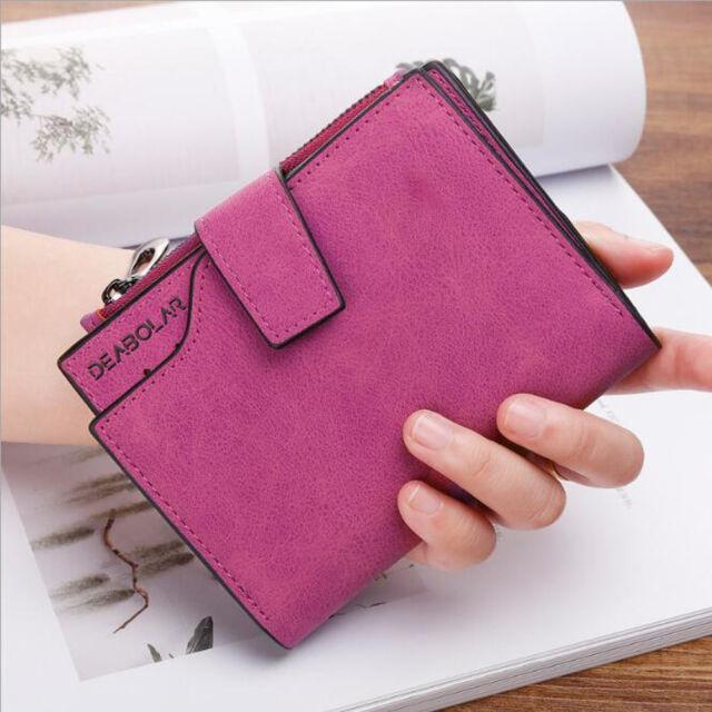 f34b717e3139 Fashion Leather Small Wallet Luxury Women Short Coin Zipper Purse Card  Holder