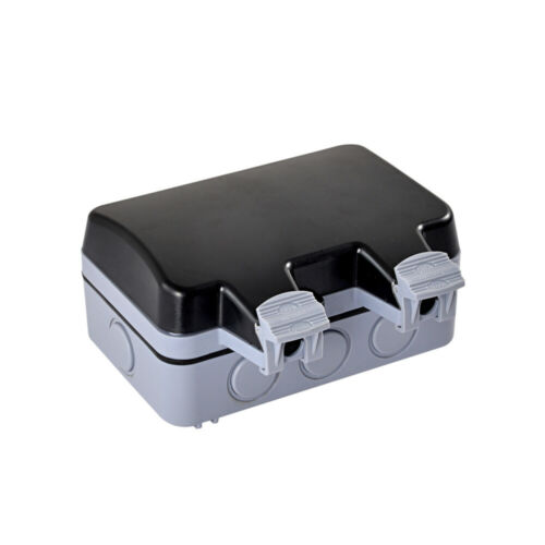 16A Wasserdichte Schaltsteckdose IP66 Außenwand-Schaltsteckdose EU-Stecker 2020