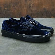 Vans Authentic (Velvet) Navy/Black Sole