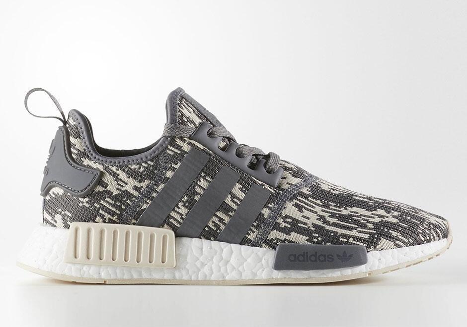Adidas Originals NMD R1 Runner gris glitch ropa de temporada cq0858 glitch gris Camo gris nuevo despacho venta 1e6b71