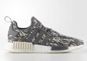 innovative design 3372f e3ff9 Image is loading Adidas-Originals-NMD-R1-Runner-Grey-Linen-Glitch-