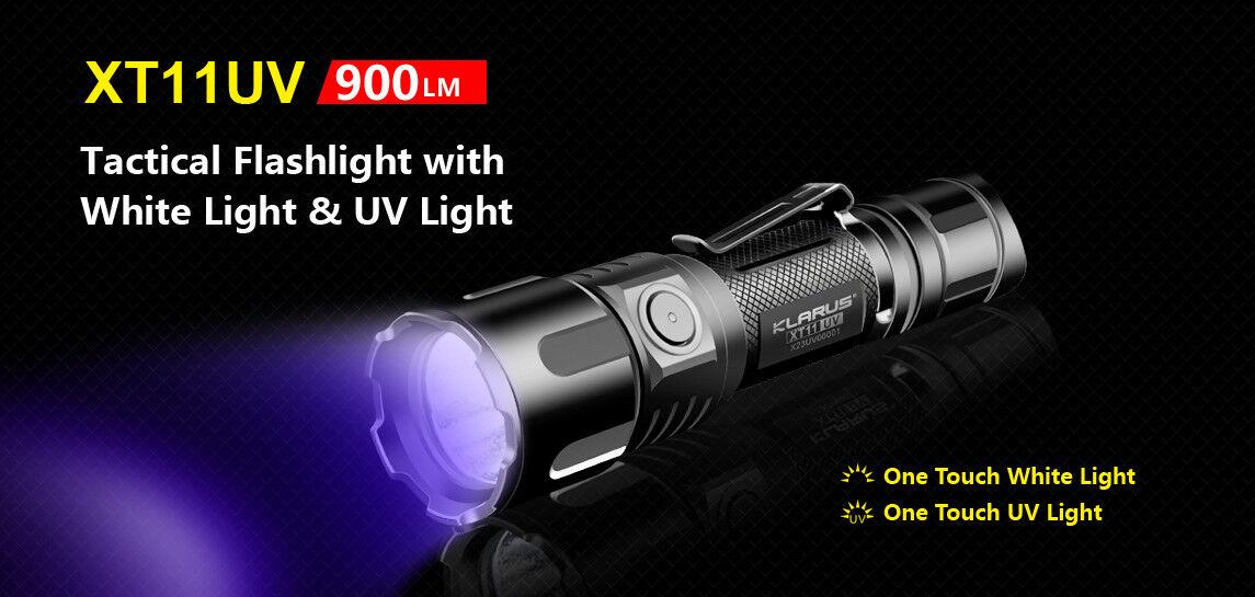 Klarus XT11UV XP-L HI  LED aufladbare universal taktische Taschenlampe
