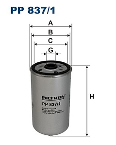 CARBURANT filtre-Filtron pp837//1