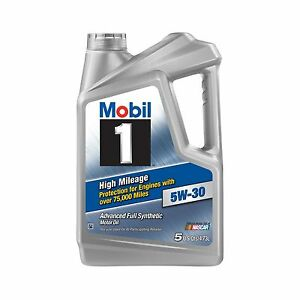 Mobil 1 (120769) High Mileage 5W-30 Motor Oil - 5 Quart Free Shipping