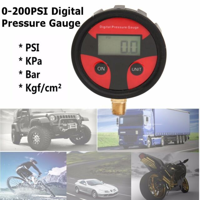 New 0-200PSI LCD Digital Tire Tyre Air Pressure Gauge Tester Tool Car Motorcycle