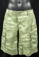 Gh Bass & Co Mens Classic Green Camo Ripstop Cargo Shorts Sz 30 100% Cotton