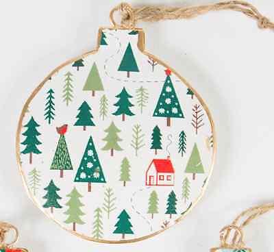 Sass and Belle white festive forest vintage,folk art Scandi Christmas decoration