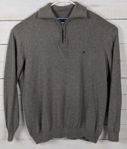 d141c2f51ac Details about Casa Moda Brown Pima Cotton 1/3 Zip Sweater w/Collar, Mens  U.S. Size XXL EUC