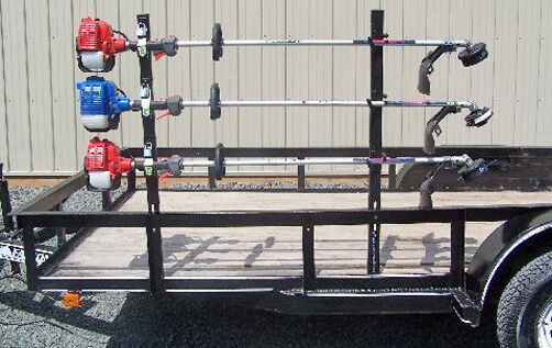 Pack'em String Trimmer Rack 3 Place Open Trailer PK-6