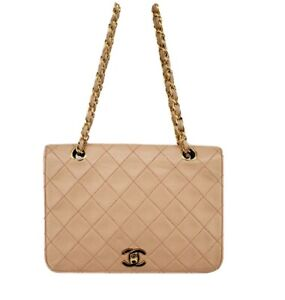 Chanel Classic Vintage CC WOC Light Pink Single Flap Small Mini Square Bag Gold