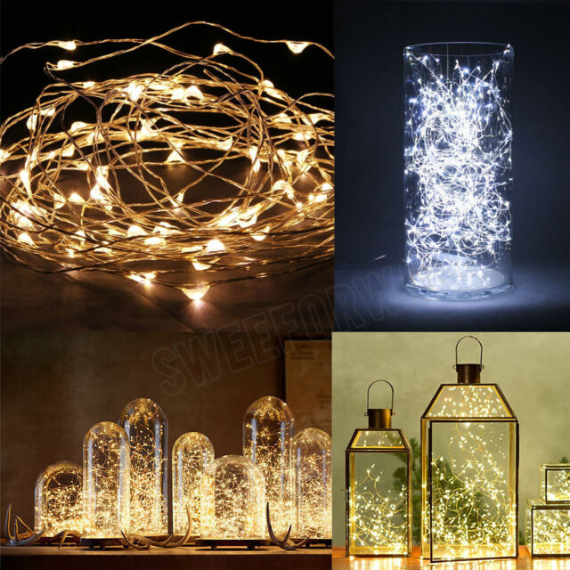 20/30/40/50/100 LED String Copper Wire Fairy Lights Battery Powered Waterproof