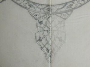 Dibujo-Original-Antiguo-Croquis-Prenda-Diseno-Greidenberg-Joyeria