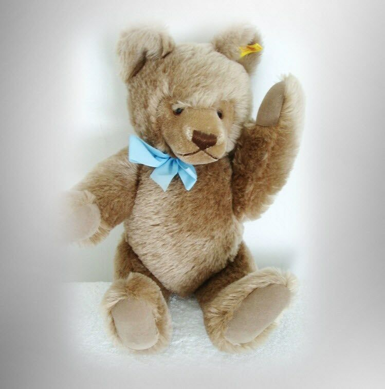 Steiff bear with button and tag - plush body