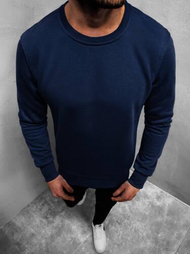 Sweatshirt Langarmshirt Rundhals Pullover Classic Unifarben Basic Herren OZONEE
